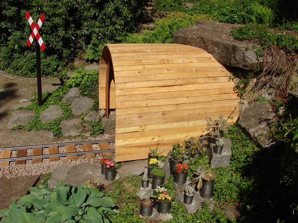 La voûte et le jardin du projet Phileas