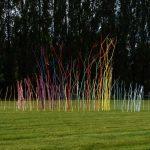 """Le moulin chromatique, """"Jardin des Arts"""", Châteaubourg © les Fujak 2017"""