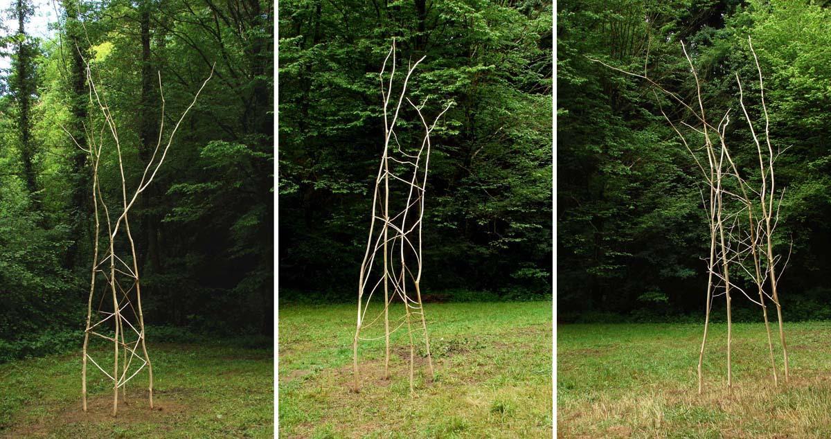 """""""Le classique"""", """"Le baroque"""" et """"Le végétal"""", Basse tension, """"Sentier Art Nature du Gorneton"""", Chasse-sur-Rhône / Seyssuel © les Fujak 2017"""