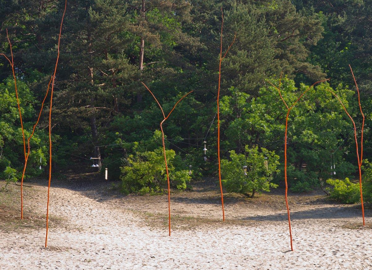 Le chant des dunes, Festival land art de Buthiers © les Fujak 2018
