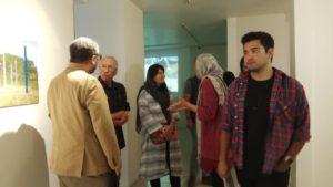 Exposition à la galerie Jaleh, Téhéran, octobre 2018